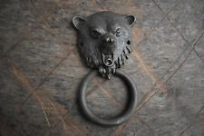 vintage victorian Grizzly Bear Iron chest door knocker ring Pull handle knob