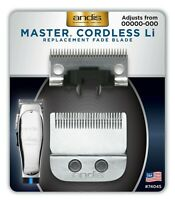 Andis Replacement Fade Blade Set For Master Cordless Li Clipper 74045