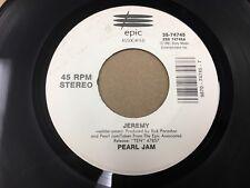 "Pearl Jam Alive / Jeremy 7"" 45 rpm Epic 1991 VG+"