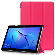 """For Huawei MediaPad T3 7.0"""" 8"""" 10"""" Leather Thin Smart Stand Case Cover Tablet UK"""