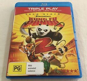 Kung Fu Panda 2 (2011) - Blu-Ray + DVD Region B/4 | Like-New | Jack Black