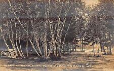 North Turner ME Store at Bear Pond Park Coca-Cola Sign RPPC Postcard