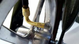 90 Degree Angle Air Tyre Valve Extension Motorbike Adaptor Motorcycle Car Bike