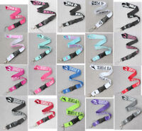 10x Pink/white/red/black neck Lanyard ID Badge Keychain Strap gifts mixed colors
