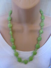 Lola Rose Lime Green Semi Precious Stones Bead Necklace & Pouch NEW