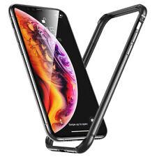 For iPhone 11 / 11 Pro Max - BLACK Aluminum Metal Rubber BUMPER FRAME Case Cover