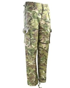 Kids Camo Trousers Combat British BTP Camouflage Army Combats Size 12-13 Years