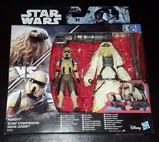STAR WARS MOROFF + SCARIF STORMTROOPER SQUAD LEADER ACTION FIGURE 2 PK NEW RARE