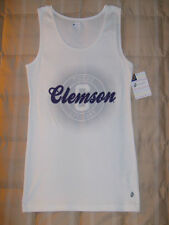 Russell NWT Clemson Tigers white/purple tank top XL misses