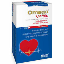 OMEGA CARDIO + CZOSNEK 60 kaps. cholesterol serce krążenie heart circulation