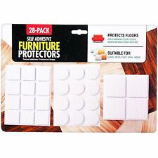 28 Pack Self Adhesive Sticky Pad Square Round Floor Furniture Leg Protectors
