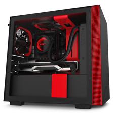 NZXT H210i Black/Red Mini-ITX Case w/Tempered Glass Window RGB Smart Control