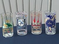 FOUR Kentucky Derby Glasses --> 2017, 2018, 2019, + 2020   MINT + UNUSED SET!!