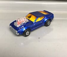 Lesney Matchbox Rolamatics | No 10 Mustang Piston Popper | Used | Blue
