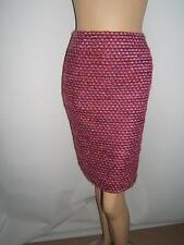 Escada 40 10 Sexy Rosa Tweed lila fuchsia Luxus Damen Wolle Mohair Rock