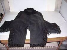 VTG 1800'S VICTORIAN WOMEN'S BLACK MOURNING CAPE WIDOW COAT JACKET WRAP CLOAK