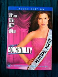 MISS CONGENIALITY – DELUXE EDITION – DVD (SLIP CASE) R-4- LIKE NEW- FREE POSTAGE