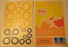 """WW2 His Air Dec 1:48 Scale British National Insignia A Type Yellow 20-40"""" Decals"""