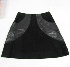New Listing& Other Stories Women's Us 6 Suede Leather Panel Mini Skirt Black