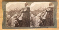 "In ""Mount Lebanon"" at Zahleh, Syria – Stereoview Slide – Underwood – 1900"