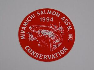 Miramichi Salmon Association For Conservation 1994 MSA Red Round Sticker Decal