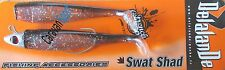 COMBO SWAT SHAD 90 mm COLORE 152 MONTATO DELALANDE ARTIFICIALE GOMMA SOFT BAIT