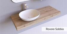 Mensola per lavabo mensolone bagno in legno laminato Rovere Sabbia