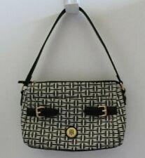 "Tommy Hilfiger Medium Black & White Logo Handbag 10"" X 7"""
