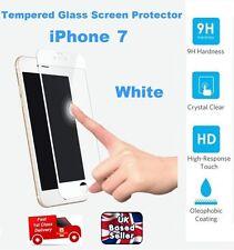 3D Libre de Burbuja de Tamaño Completo Protector de Pantalla de Vidrio Templado para iPhone 7 Blanco