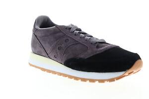 Saucony Jazz Original Suede S70418-1 Mens Black Low Top Lifestyle Sneakers Shoes