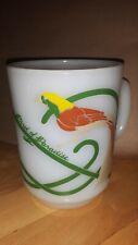 Bird of Paradise Anchor hocking milk glass mug