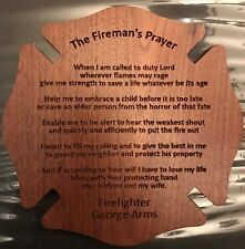 Handcrafted Personalized Fireman's Prayer Plaque