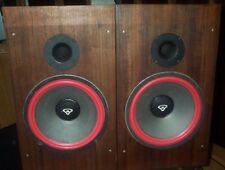 Vintage Cerwin Vega refoamed R -12  stereo speakers !