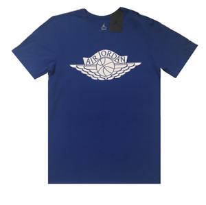 Nike T Shirt Mens Small Authentic Blue Air Jordan Jumpman Wings Graphic Crew Tee
