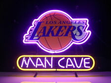 "20""x16"" Los Angeles Lakers Man Cave Neon Sign Light Beer Bar Gift Lamp Decor"