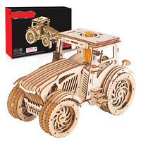 3D Wooden Puzzle Tractor Mechanical Building Model Kit Assembly for Teens Adults
