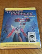 THE TRANSFORMERS THE MOVIE STEELBOOK SHOUT FACTORY EXCLUSIVE BLU RAY NEW SEALED