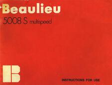 Beaulieu 5008 S - Super 8 - Film Camera - Instruction Manual - PDF File
