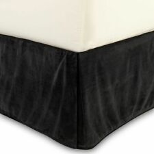 NWT Juicy Couture Bedding Black Soft Velour Bedskirt - California King