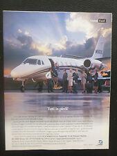 6/2003 PUB CESSNA CITATION EXCEL BUSINESS AIRCRAFT FLUGZEUG ORIGINAL ITALIAN AD