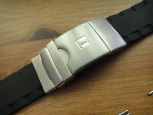 Genuine Tissot T-TOUCH BLACK SEA-TOUCH 22mm Rubber Band strap bracelet T026 420