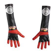 KAMEN RIDER Dragon Knight Gloves Red & Black Gants Childs Boys Costume Accessory