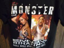 Eminen x Rihanna shirt 2014 Monster  concert small limited tour black