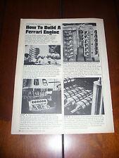 HOW TO BUILD A FERRARI ENGINE V-12  - ORIGINAL 1968 ARTICLE