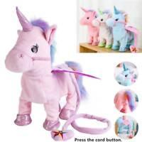 Magic Walking & Singing Unicorn Plush Toy Doll Children Kids Birthday Gifts