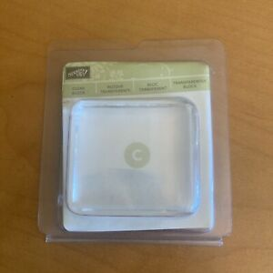 """Stampin' Up! Clear Block (size C) 2""""L x 2 1/4""""W for cling or clear stamps BNIB"""