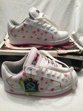 Odessa Baker G Blanca Rosa Chicas Helado De Cuero Zapatos de Skate tamaño de Reino Unido 4 Nuevo Y En Caja