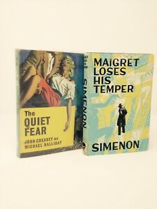 Simenon Creasy Maigret Loses His Temper The Quiet Fear First Edition