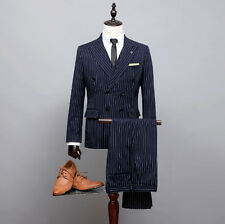 A new men's suits, fashion leisure suit double-breasted groom suit man wedding d
