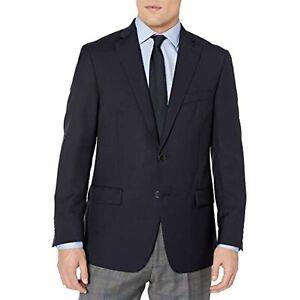 $595 Hart Schaffner Marx Men's 2 Button Ny Fit Side Vent Blazer Navy 48 T/L39.5